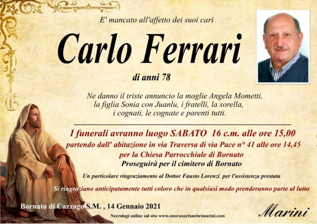 Carlo Ferrari O.F. Marini