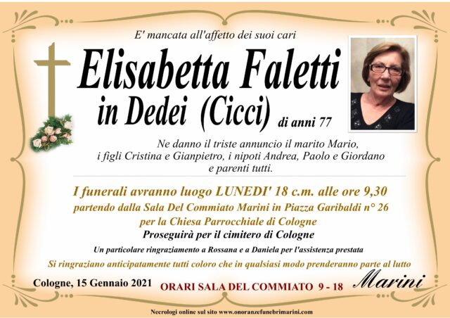 lisabetta Faletti in Dedei O.F. Marini