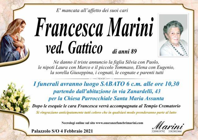 Francesca Marini ved. Gattico