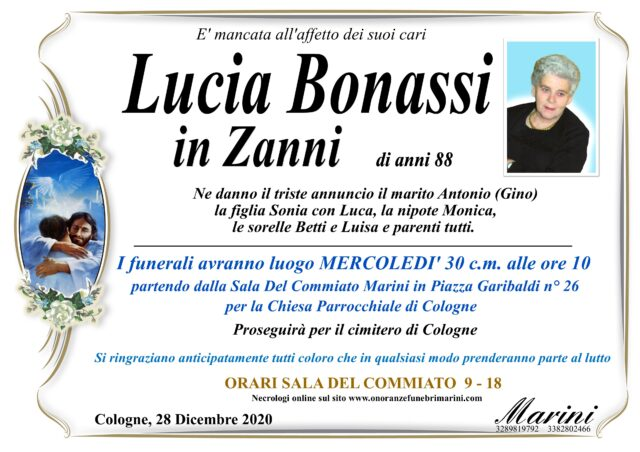 Lucia Bonassi in Zanni O.F. Marini