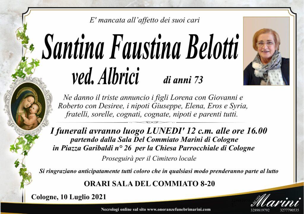 Santina Faustina Belotti ved. Albrici