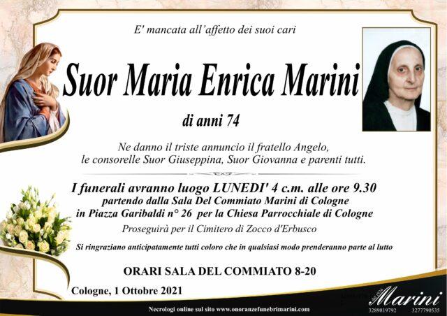 Suor Maria Enrica Marini